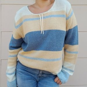 Vintage NWOT Denim & Co. Striped crewneck sweater